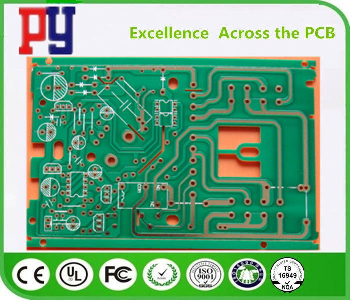 1 Layer Single Sided PCB Board 0.20mm Hole Size 0.8mm Thickness ROHS Approval