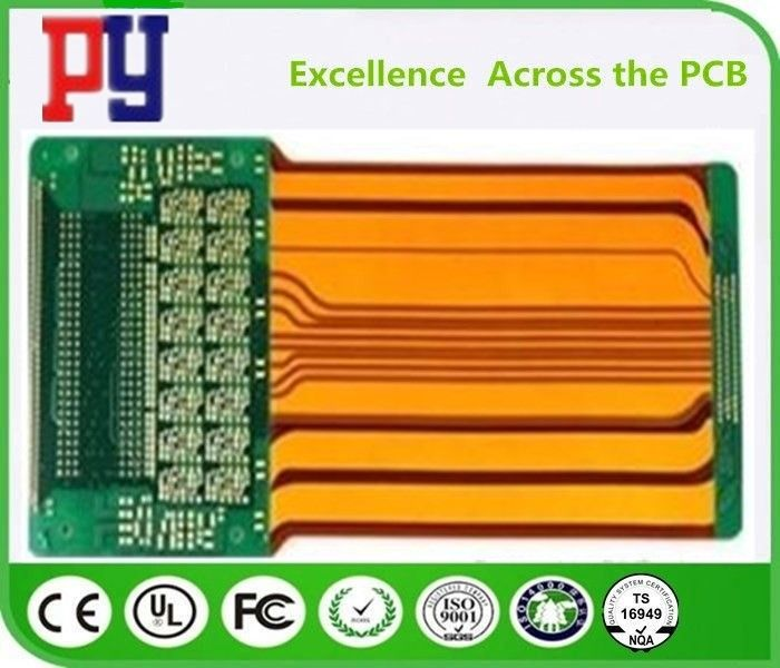 Durable Rigid Flex PCB 4 Layer Polyimide Fr4 Base Material 4 MIL Hole Size