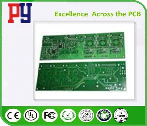2 Layer Rigid PCB Circuit Board 1.6mm Thickness Fr4 Base Material Metallized Holes